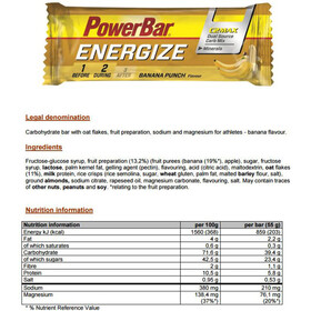 PowerBar Energize Riegel Box Banana Punch 25 x 55g